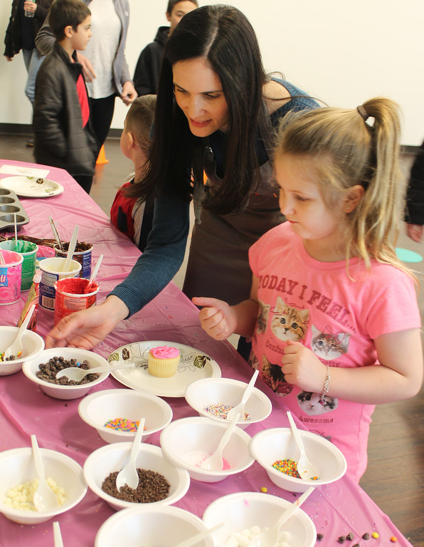 . Kids visiting the open house enjoyed a culinary experience in cupcake decorating courtesy of Silly Spoons. Silly Spoons will be offering interactive classes at the community center this spring and summer. Contact info@sillyspoons.com or on Facebook @sillyspoons