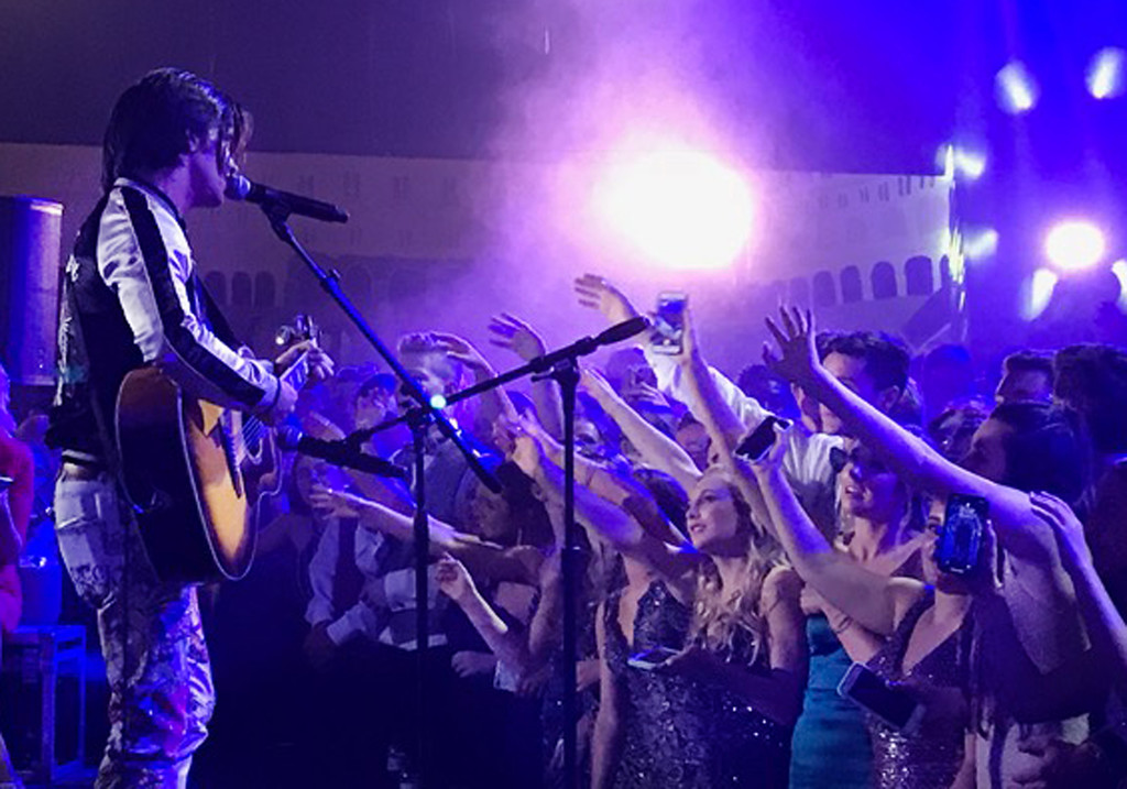 . Musician and actor Drake Bell performs at the Pennsbury Prom.