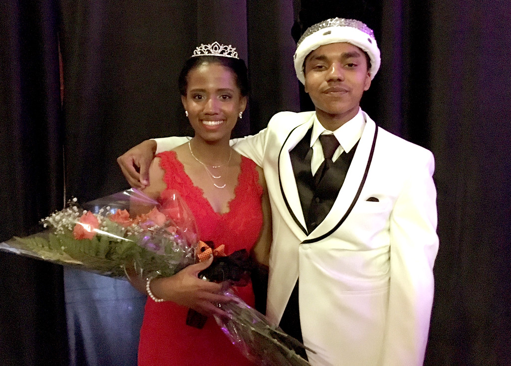 . The Pennsbury Prom\'s King and Queen, Isaiah Dixon and Jordan Hughes.