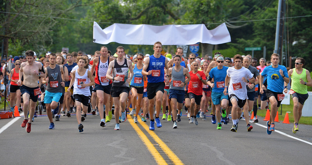 . The 10K Race is off and running. (photo by John Gleeson)