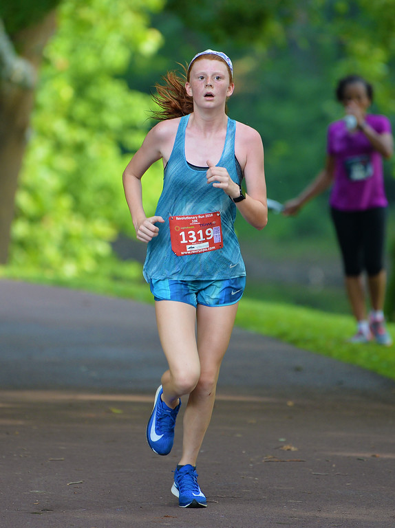 . At age 13 Olivia Montini of Huntingdon Valley finished 73rd in the 10K. (photo by John Gleeson)