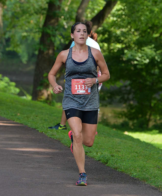 . Yardley\'s Jenna Tasulo finished fourth overall among women. (photo by John Gleeson)