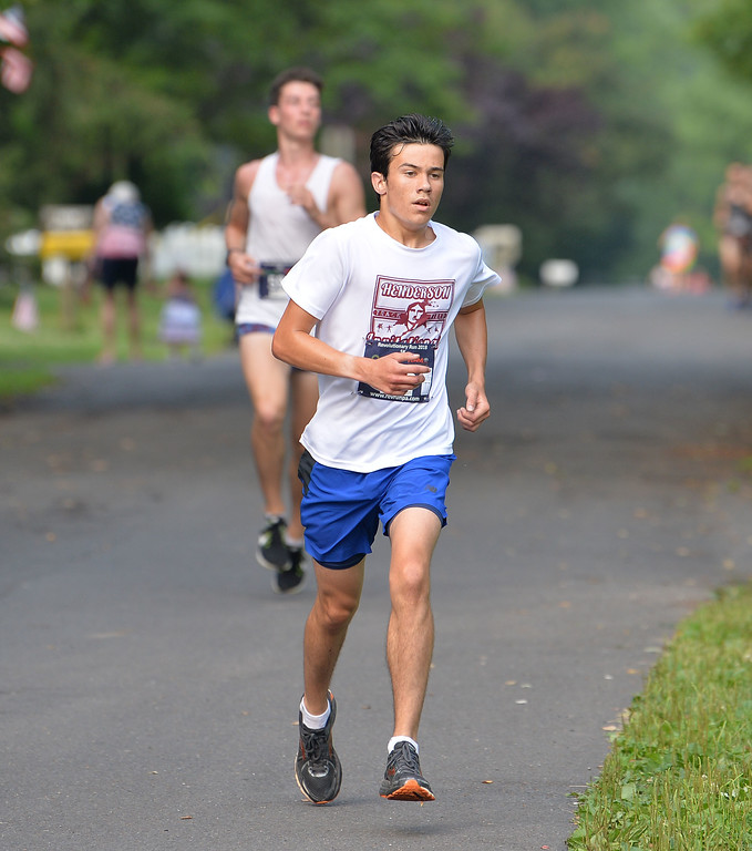 . Ethan Kozo of Newtown finished second in the 5K. (photo by John Gleeson)