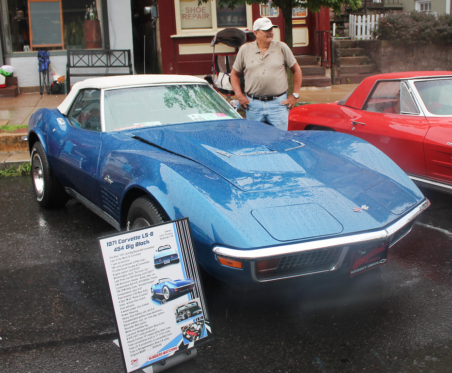 . A 1971 Corvette LS-5 454 Big Block owned by John Fasano of Newtown.
