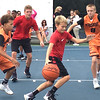 Competing in the 3v3 Basketball Tournament.