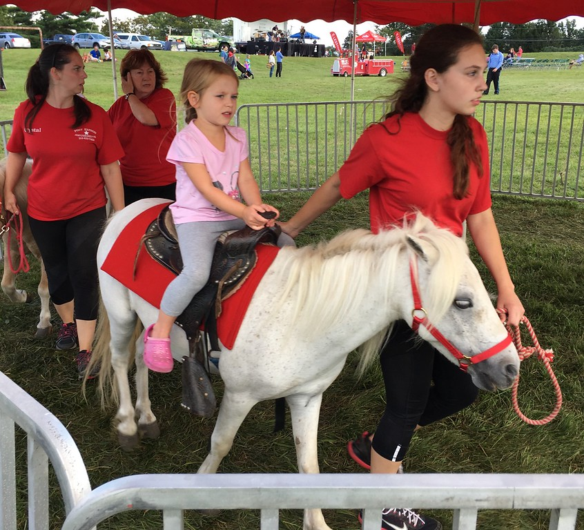 . Pony rides are always a popular draw at the event.