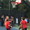 A team competes in the 3v3 Basketball Tournament, which took place throughout the day.