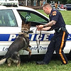 Lower Makefield canine officers held at demonstration at the event.