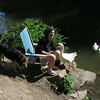 Maddie, Big Guy, Kathi, canal, 2