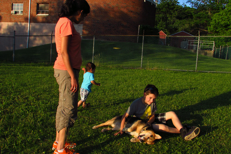 Maddie, children, towpath, 333
