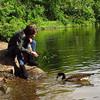 Kathi, canal, treats, Josephine, 4, goose, FB