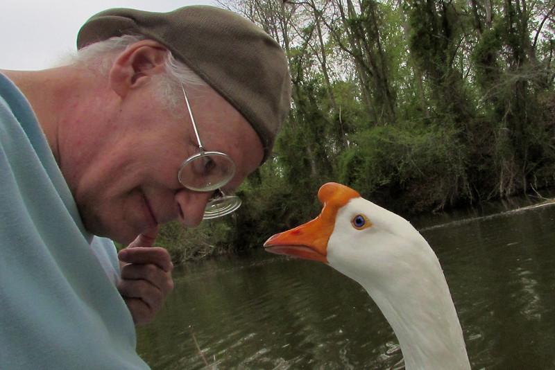 Me, marty, big guy, goose, canal, portrait, 2
