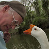 Me, marty, big guy, goose, canal, portrait, 2