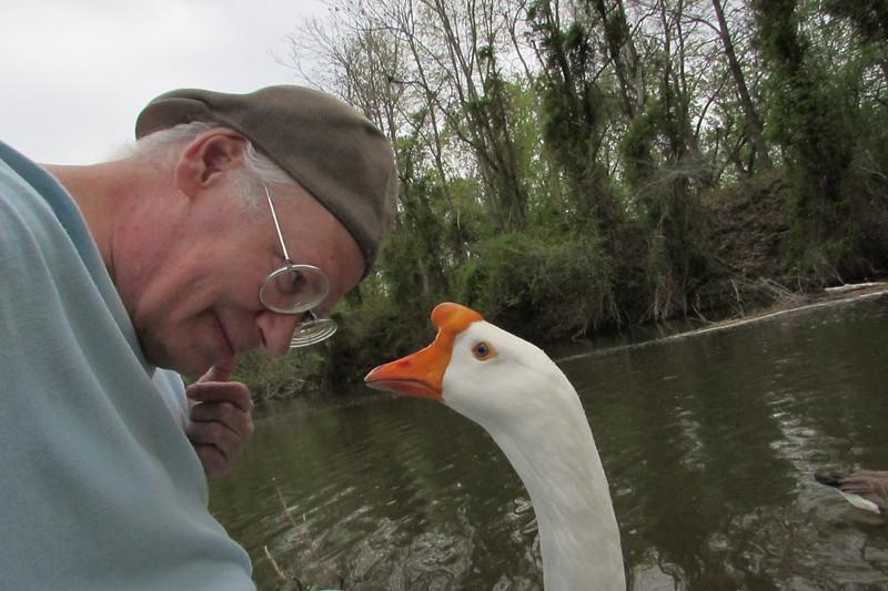 Me, marty, big guy, goose, canal, portrait, original