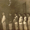 Byron (Bud) William Yaden [3rd from right] - 1912 - Age 15 - Shoshone High School Basketball Team - Shoshone, ID