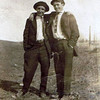Byron (Bud) William Yaden [right] - 1912 - Age 15 - Shoshone, ID
