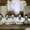 Byron (Bud) William Yaden [center] - 1912 - Age 15 - Shoshone High School Basketball Team - Shoshone, ID