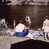 1960 (August) - People unidentified - Naches River Cabin - Cliffdell, WA - From the Byron W. Yaden 35MM Slide Collection