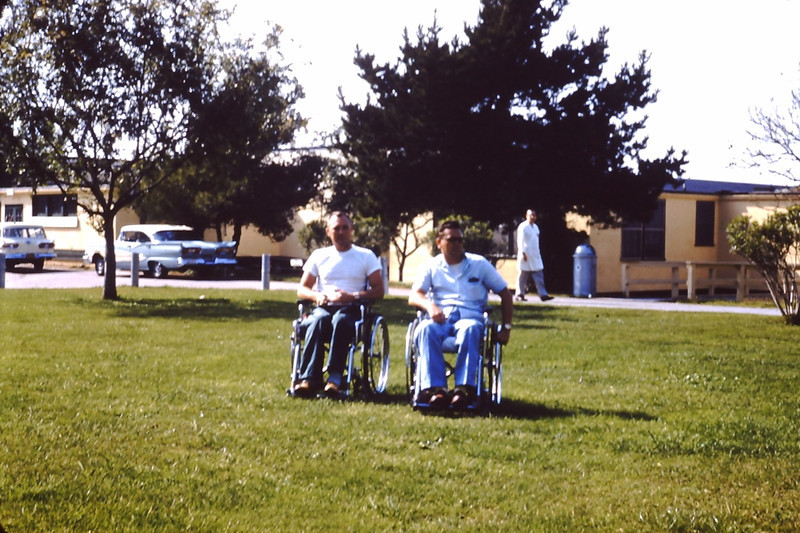 1960 - Disabled veterans at the Veterans Hospital in Long Beach, CA - From the Byron W. Yaden 35MM Slide Collection