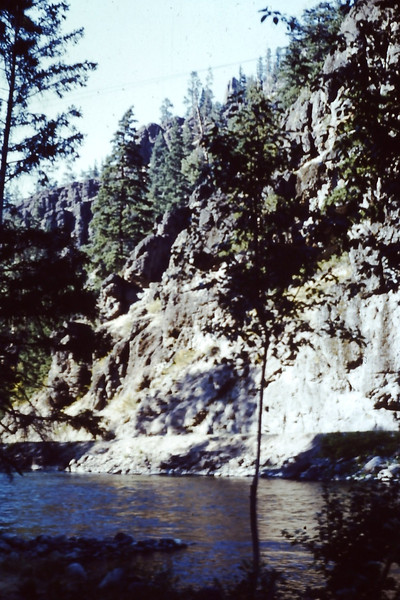1962 (June) - Across the river from the Naches River cabin - Cliffdell, WA - From the Byron W. Yaden 35MM Slide Collection