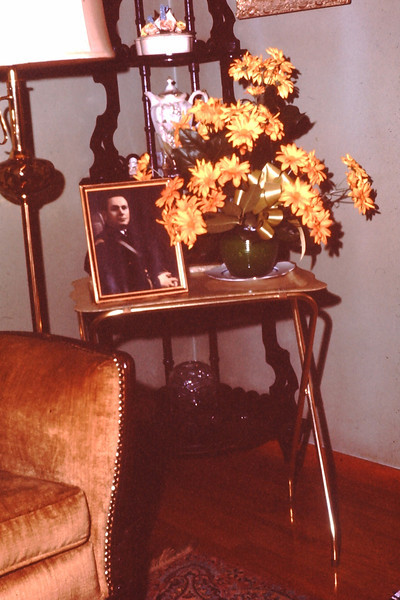 1964 (May) - Location not identified - Photo next to flowers is Bud Yaden - From the Byron W. Yaden 35MM Slide Collection