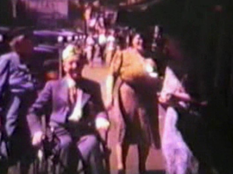 Video Archive Clip 1954 - Yaden, Byron William (1897-1975) & Edna [Maxwell] (1894-1955) - Grandpa Bud's 16mm Films from 1953/54 with Kissing Finale - Washington State - Mixed Relations Series - Edited in December 1986 (5 min 4 sec)