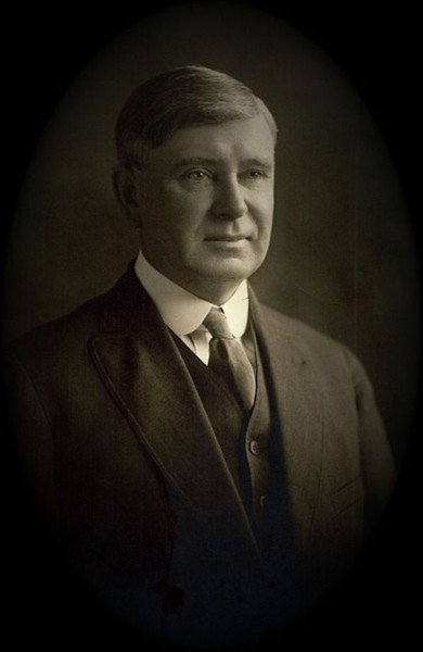 William James Maxwell - 1917 - Father of Edna (Maxwell) Yaden - Galesville, WI<br /> <br /> Born:  July 4, 1864 in Cedar Falls, WI<br /> Married:  June 1887 to Harriett Willson in Brunswick, WI<br /> Died:  July 6, 1918 (age 54) of Typhoid Fever in Galesville, WI