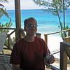 Bud Lewis relaxing on the island of Eleuthera, the Bahamas.