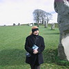 Sandy at Avebury - a group of standing stones in England.