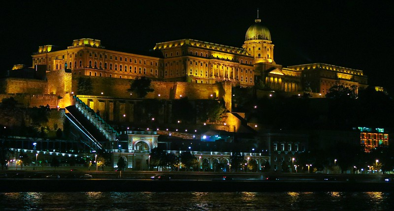 Buda Castle on Castle Hill, Budapest, Hungary.