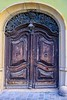 High mileage church door, Budapest.