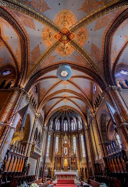 Interior of St. Mattias Church.