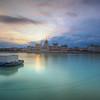 Sunrise With Floating Docks