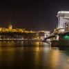 Buda Castle and Chain Bridge at night