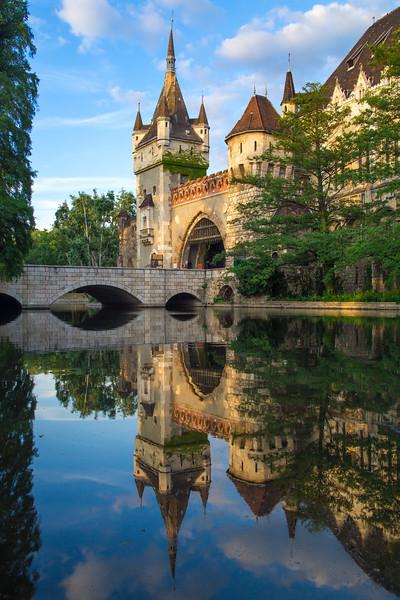 Vajdahunyad Castle reflection portrait