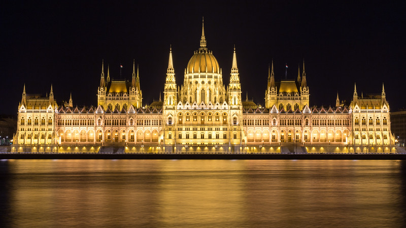 Opposite of Hungarian Parliament, Budapest