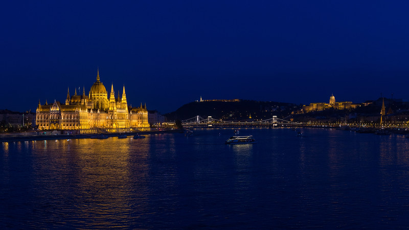 Panorama from Margaret Bridge in the Blue Hour