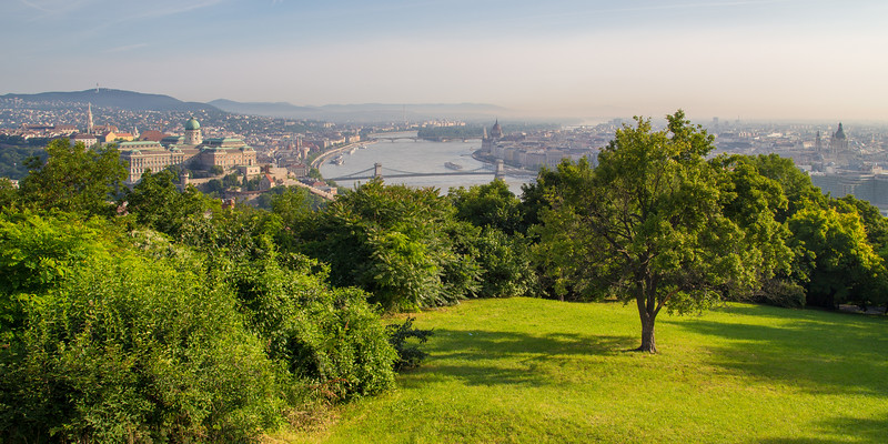 Budapest from Gellert-hill in the morning
