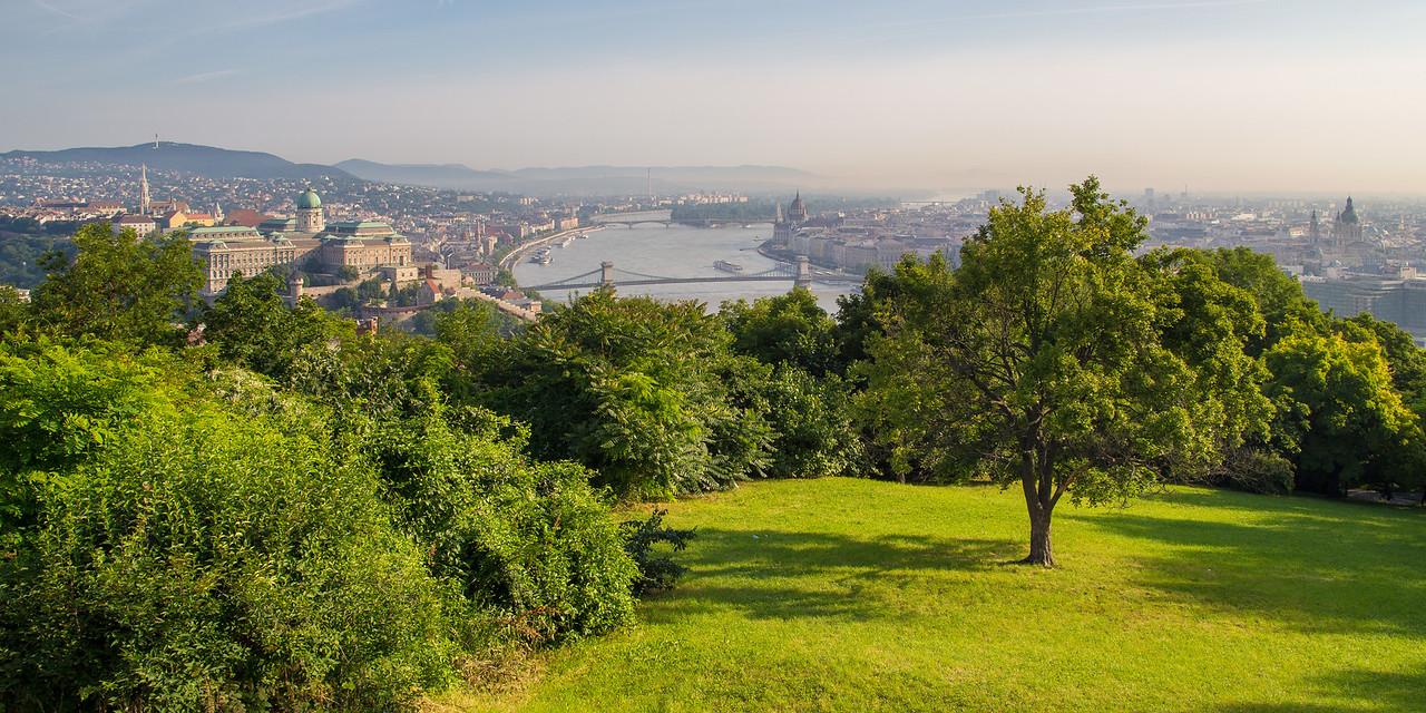Budapest from Gellert-hill in the morning