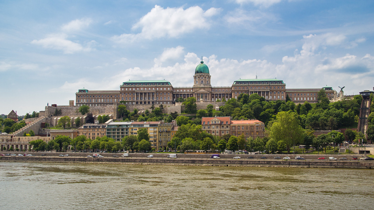 Buda Castle Royal Palace from Chain Bridge