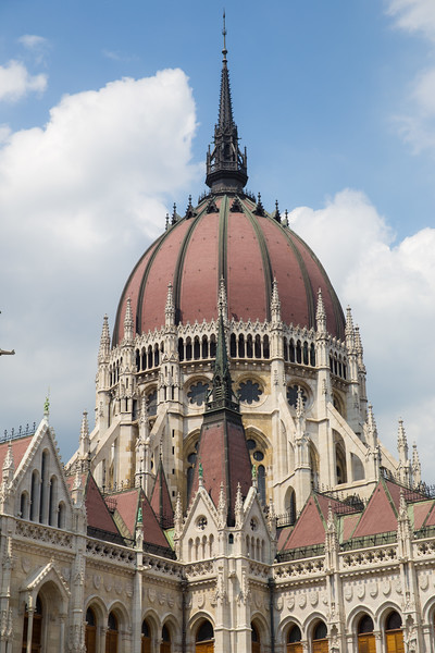 Closeup of central tower of Budapest  Parlament