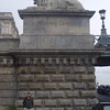 The famous lions at the base of the Széchenyi Chain Bridge.
