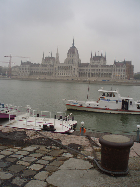The Parliament building was finished in the 1890's to commemorate the unification of Budapest as the second capitol of the Austro-Hungarian empire (along with Vienna).  We viewed it from the river, but couldn't enter because of construction on the grounds.