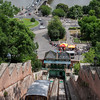 Castle Hill Siklo Funicular, Danube River and Chain Bridge, Budapest, Hungary