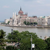 Parliament buildings on the Danube River, Budapest, Hungary