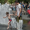 Summer fun in the fountain, Budapest, Hungary