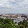 City of Budapest and the Danube from Castle Hill, Hungary