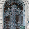Ornate wrought iron gate, Budapest, Hungary