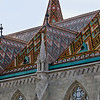 Tile roof of Matthias Church, Castle Hill, Budapest, Hungary