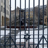 The fence at the synagogue in Budapest, Hungary in January 2014